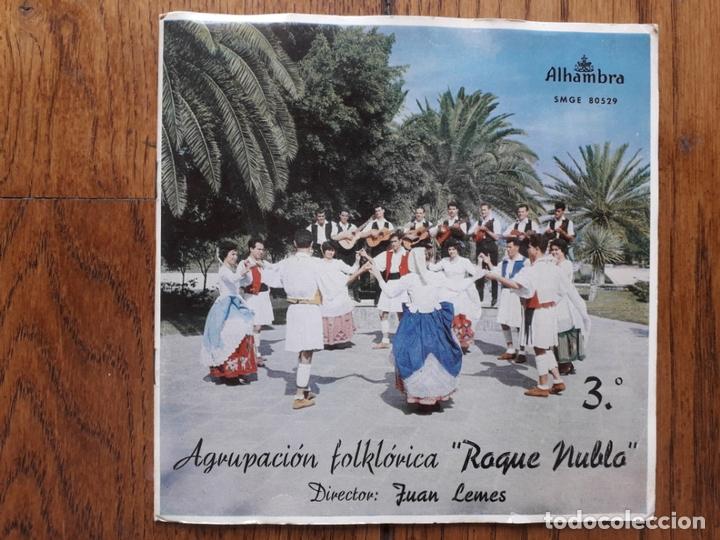 AGRUPACIÓN FOLKLÓRICA ROQUE NUBLO - 3 - LA PERLA + SALTO DOMINGO + ISLAS CANARIAS + CABRA LOCA (Música - Discos de Vinilo - EPs - Étnicas y Músicas del Mundo)