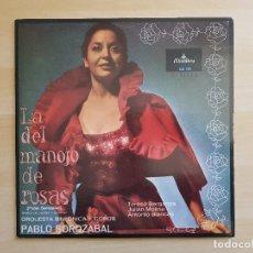 Discos de vinilo: TERESA BERGANZA - PABLO SOROZABAL - LA DEL MANOJO DE ROSAS - LP VINILO - ALHAMBRA - COLUMBIA - 1981. Lote 170520708