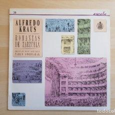 Discos de vinilo: ALFREDO KRAUS - ROMANZAS DE ZARZUELA - LP VINILO - HISPAVOX - 1988. Lote 170520912