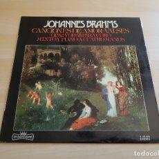 Discos de vinilo: JOHANNES BRAHMS - CANCIONES DE AMOR - VALSES - LP VINILO - INTERCORD - 1975. Lote 170521060