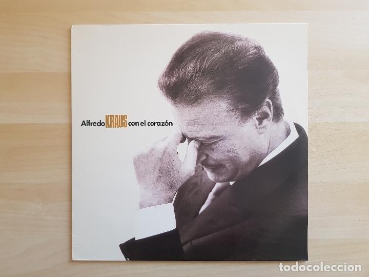 ALFREDO KRAUS - CON EL CORAZÓN - DOBLE LP VINILO - SERDISCO - 1991 (Música - Discos - LP Vinilo - Clásica, Ópera, Zarzuela y Marchas)