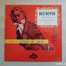 Discos de vinilo: BEETHOVEN - SEPTETO - OCTETO DE VIENA - LP VINILO - DECCA - 1964. Lote 170524320