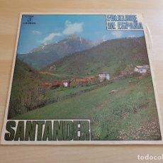 Discos de vinilo: SANTANDER - FOLKLORE DE ESPAÑA - LP VINILO - COLUMBIA - 1970. Lote 170525312