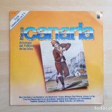 Discos de vinilo: TIERRA CANARIA - ANTOLOGÍA DEL FOLKLORE DE LAS ISLAS - LP VINILO - ZACOSA - 1981. Lote 170526180