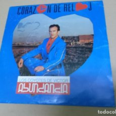 Discos de vinilo: LOS COYOTES DE VICTOR ABUNDANCIA (SN) CORAZON DE RELOJ AÑO – 1990. Lote 170567628