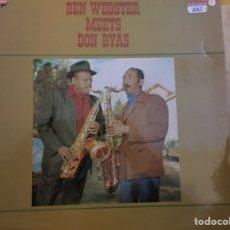Discos de vinilo: BEN WEBSTER MEETS DON BYAS - BEN WEBSTER MEETS DON BYAS (LP, ALBUM, RE) (MPS) (COMO NUEVO) (1981. Lote 170588350