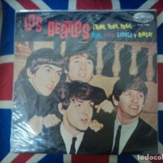 Discos de vinilo: THE BEATLES: YEAH YEAH YEAH- EDICION ORIGINAL DE PERU-ODEON LABEL NEGRO-MONO PMC 1230. Lote 170629420