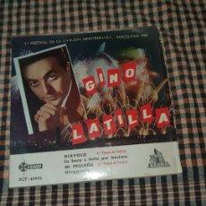 Discos de vinilo: GINO LATILLA - 2º FESTIVAL DE LA CANCION MEDITERRANEA, BARCELONA 1960, CETRA.. Lote 170647865
