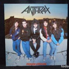 Discos de vinilo: ANTHRAX - PENIKUFESIN - LP. Lote 170683705