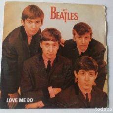 Discos de vinilo: LOVE ME DO (VINYL, 7 45 RPM, PROMO, REISSUE) ALBUM COVER THE BEATLES – LOVE ME DO, ED SPAIN. Lote 170698690