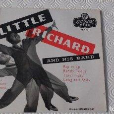 Discos de vinilo: EP DEL CANTANTE NORTEAMERICANO DE ROCK AND ROLL, LITTLE RICHARD - UK FIRST PRESS. Lote 170715865
