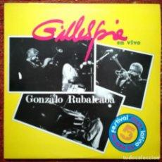 Discos de vinilo: GONZALO RUBALCABA Y DIZZI GILLESPIE, CONCIERTO EN VIVO.SELLO EGREM,CUBA. Lote 170840755