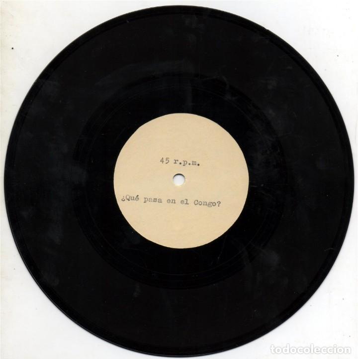 Discos de vinilo: ACETATO DE LA GRABACIÓN ORiGINAL ¿QUÉ PASA EN EL CONGO? DE DODO EsCOLÁ. - Foto 3 - 170858443