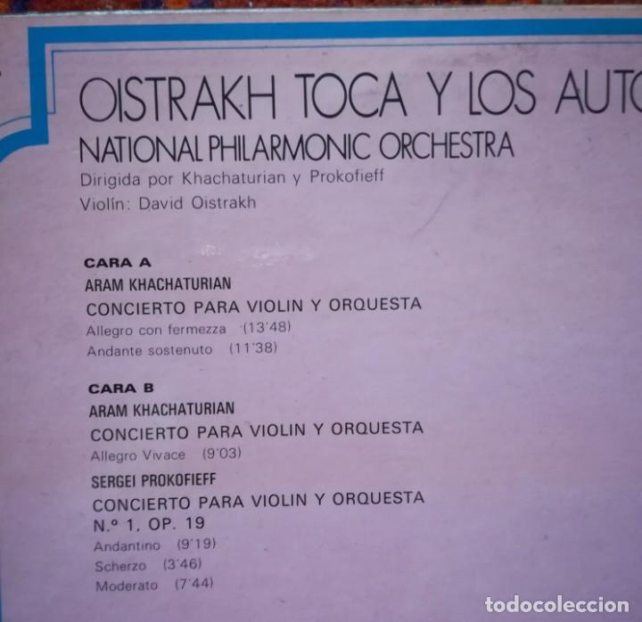 Discos de vinilo: David Oistrakh violinista dirigido por Kachaturian y Prokofiev - Foto 2 - 170914805