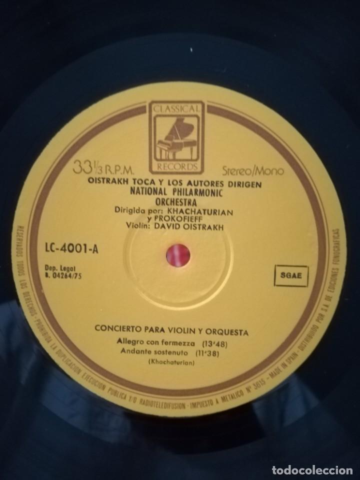 Discos de vinilo: David Oistrakh violinista dirigido por Kachaturian y Prokofiev - Foto 3 - 170914805