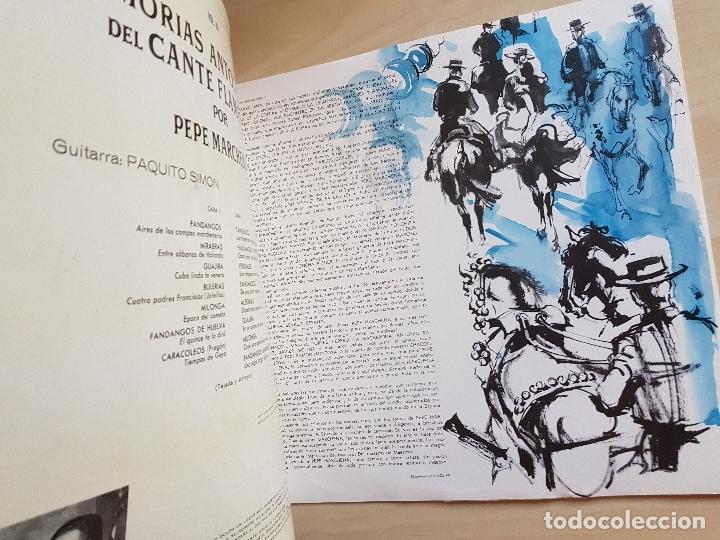 Discos de vinilo: PEPE MARCHENA - MEMORIAS ANTOLOGICAS DEL CANTE FLAMENCO - VOL. 3 - LP VINILO - BELTER - 1963 - Foto 3 - 170934665