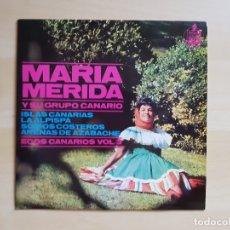 Discos de vinilo: MARIA MERIDA Y SU GRUPO CANARIO - ECOS CANARIOS VOL. 3 - SINGLE VINILO - HISPAVOX - 1965. Lote 170938990