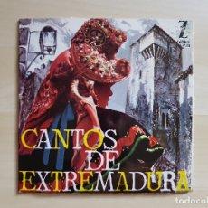 Discos de vinilo: CANTOS DE EXTREMADURA - SINGLE VINILO - ZAFIRO - 1964. Lote 170940340