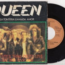 Discos de vinilo: QUEEN CRAZY LITTLE THING CALLED LOVE / WE WILL ROCK YOU 1979 SPAIN SINGLE FREDDIE MERCURY. Lote 170940860