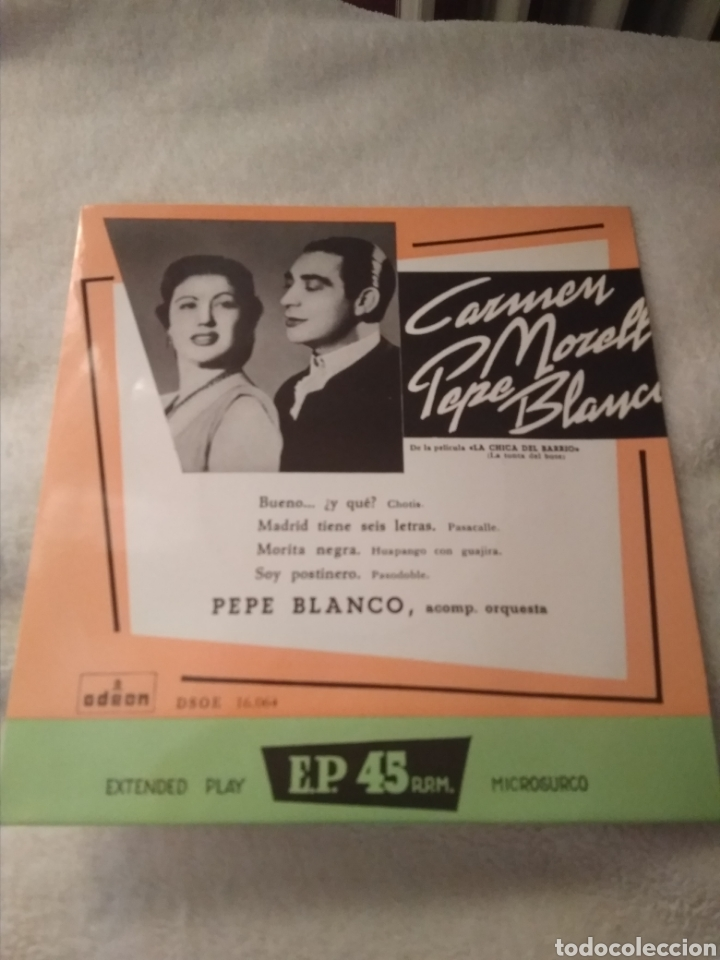 3 DISCOS SINGLE VINILO PEPE BLANCO Y CARMEN MORELL (Música - Discos - Singles Vinilo - Solistas Españoles de los 50 y 60)