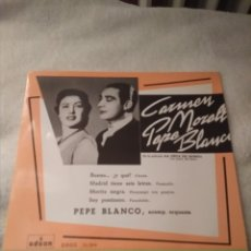 Discos de vinilo: 3 DISCOS SINGLE VINILO PEPE BLANCO Y CARMEN MORELL. Lote 170948397