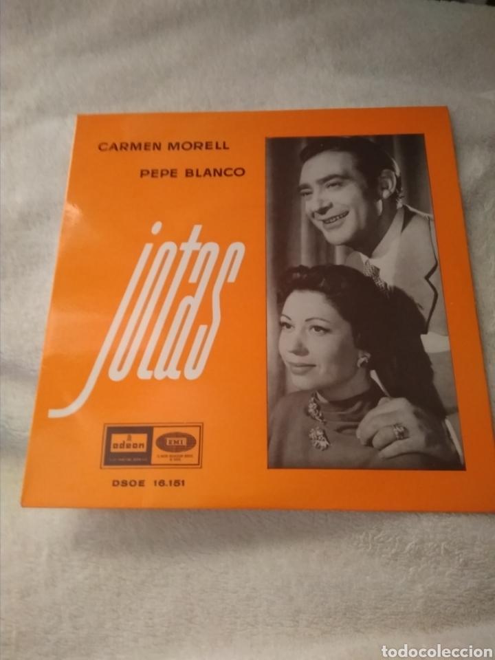 Discos de vinilo: 3 discos single vinilo Pepe Blanco y Carmen Morell - Foto 5 - 170948397