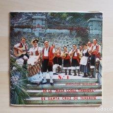 Discos de vinilo: AGRUPACIÓN FOLKLORICA DE LA MASA CORAL TINERFEREÑA - SINGLE VINILO - ALHAMBRA - 1963. Lote 170954288