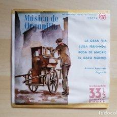 Discos de vinilo: MÚSICA DE ORGANILLO - ANTONIO APRUZZESE - SINGLE VINILO - RCA - 1960. Lote 170955415