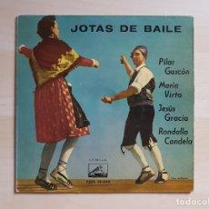 Discos de vinilo: ARAGON - JOTAS DE BAILE - PILAR GASCÓN - MARÍA VIRTO - SINGLE VINILO - LA VOZ DE SU AMO - 1959. Lote 170956053