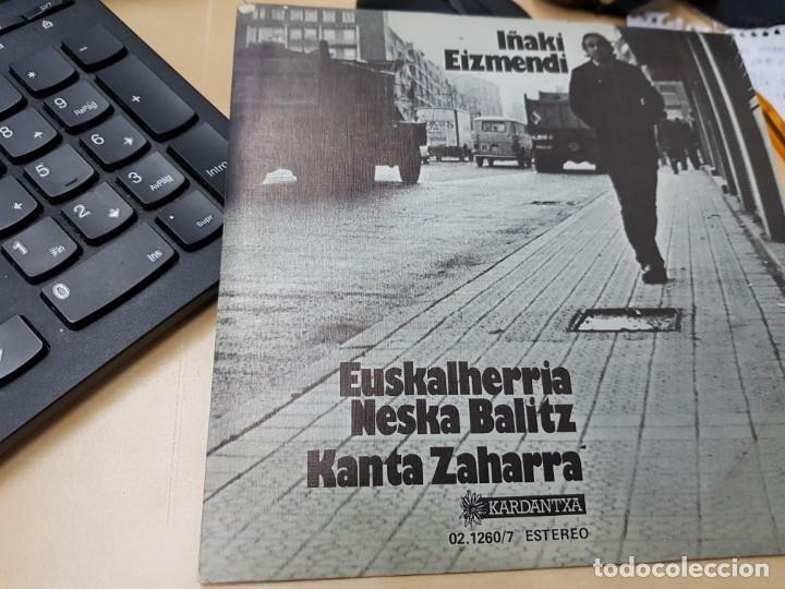 IÑAKI EIZMENDI MUESTRA INVENDIBLE COMO NUEVO (Música - Discos - Singles Vinilo - Cantautores Españoles)