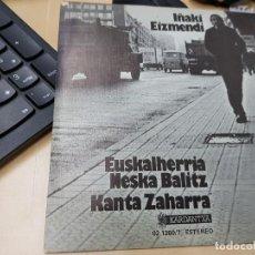 Discos de vinilo: IÑAKI EIZMENDI MUESTRA INVENDIBLE COMO NUEVO. Lote 170962873