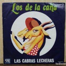 Discos de vinilo: LOS DE LA CAÑA - LAS CABRAS LECHERAS / QUÉ SERÁ DE MI - SINGLE DEL SELLO EXPLOSIÓN 1978. Lote 170964527