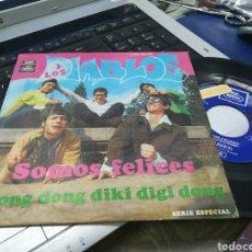 Discos de vinilo: LOS DIABLOS SINGLE SOMOS FELICES 1969. Lote 170977763