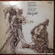 Discos de vinilo: MOZART QUINTETO PARA CORNO Y ORQUESTA Y CUARTETO PARA OBOE.SELLO ETERNA,ALEMANIA 1974. Lote 170979808