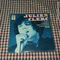Discos de vinilo: JULIEN CLERC - LE DELTA, LES VENDREDIS, YANN ET LES DAUPHINS, LA PETITE SORCIERE MALADE, EMI 1969.. Lote 170982194