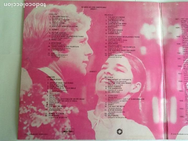 Discos de vinilo: L.P. BANDA SONORA ORIGINAL, 50 AÑOS DE CINE AMERICANO. ALBUM DOBLE. VER FOTOS. - Foto 2 - 170984728