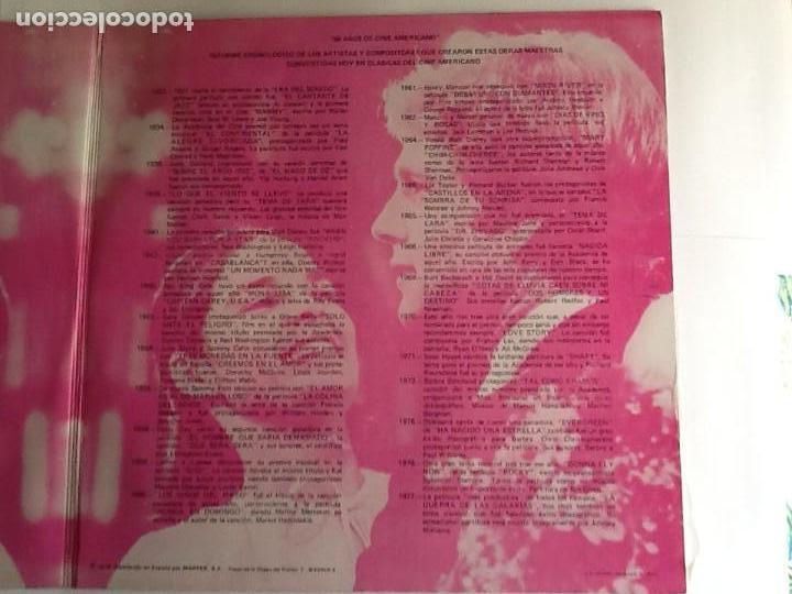 Discos de vinilo: L.P. BANDA SONORA ORIGINAL, 50 AÑOS DE CINE AMERICANO. ALBUM DOBLE. VER FOTOS. - Foto 3 - 170984728