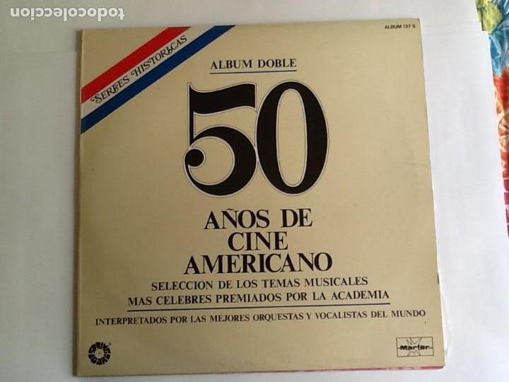 L.P. BANDA SONORA ORIGINAL, 50 AÑOS DE CINE AMERICANO. ALBUM DOBLE. VER FOTOS. (Música - Discos - LP Vinilo - Bandas Sonoras y Música de Actores )