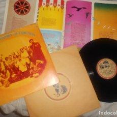 Discos de vinilo: LP SHANKAR & FRIENDS ED. 1974 SPAIN, GEORGE HARRISON, DARK HORSE, BEATLES, FOLK, 2 ENCARTES. Lote 170988059