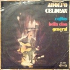 Discos de vinilo: ADOLFO CELDRÁN - CAJITAS / BELLA CIAO / GENERAL - PRIMER DISCO - MOVIEPLAY 1969. Lote 58116373