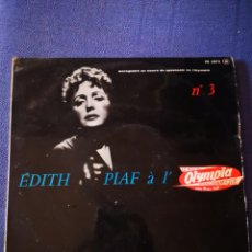Discos de vinilo: EDITH PIAF - A L'OLYMPIA - N° 3. Lote 171001879