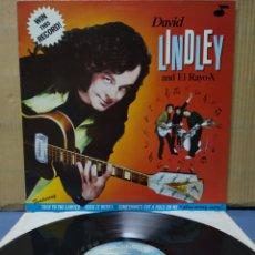 Discos de vinilo: DAVID LINDLEY AND EL RAYO X - WIN THIS RECORD 1982 GER. Lote 171011167