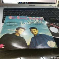 Disques de vinyle: THE EVERLY BROTHERS EP LO DECIMOS + 3 1958. Lote 171014542