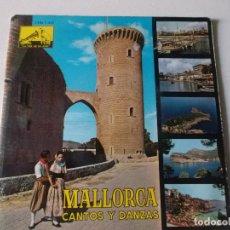 Discos de vinilo: MALLORCA ,CANTOS Y DANZAS, 1962, CON LAS HOJAS. Lote 228487670