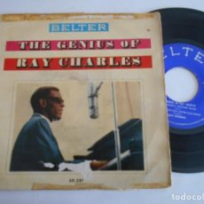 Discos de vinilo: RAY CHARLES- EP THE GENIUS OF RAY CHARLES-1960. Lote 171024933