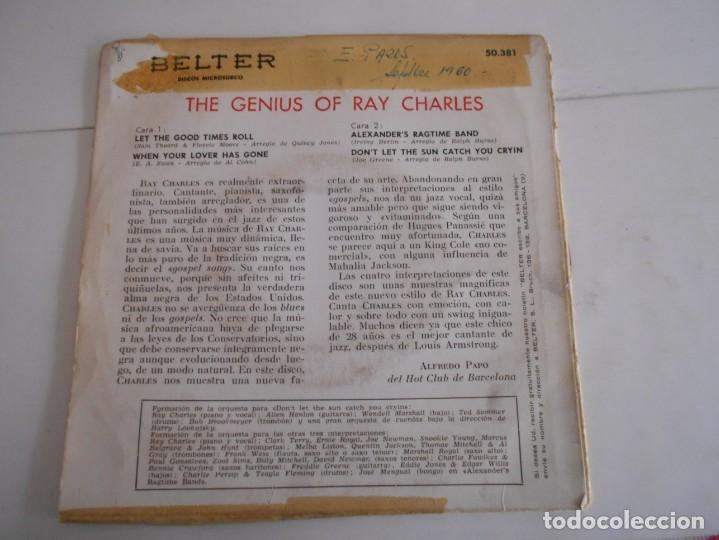 Discos de vinilo: RAY CHARLES- EP THE GENIUS OF RAY CHARLES-1960 - Foto 2 - 171024933