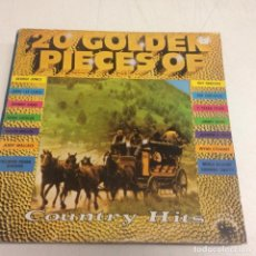 Discos de vinilo: 20 GOLDEN PIECES OF COUNTRY HITS . Lote 171026190