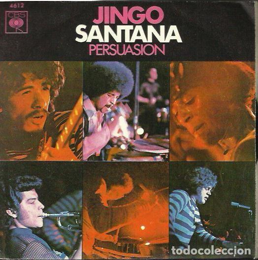 SANTANA. SINGLE. SELLO CBS. EDITADO EN ESPAÑA. AÑO 1970 (Música - Discos - Singles Vinilo - Pop - Rock - Extranjero de los 70)