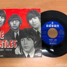 Discos de vinilo: SINGLE THE BEATLES /STRAWBERRY FIELDS FOREVER/ PENNY LANE REF DSOL 66.077 EMI SPAIN. Lote 171037287