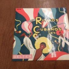Discos de vinilo: SEXTETO LA PLAYA - RITMOS CUBANOS Nº 4 (EP).. Lote 171039477